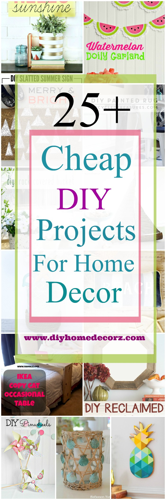 25 cheap diy projects for home decor diy home decor. Black Bedroom Furniture Sets. Home Design Ideas