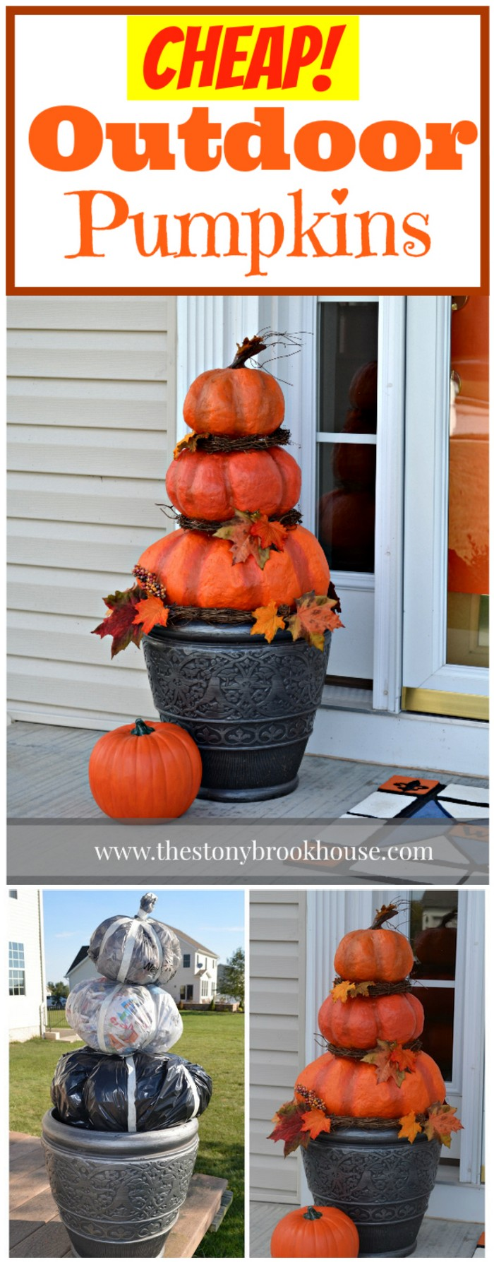Cheap Outdoor Pumpkins Fall Decoration Ideas For Your Home