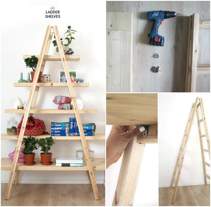 Cool Ladder Shelves