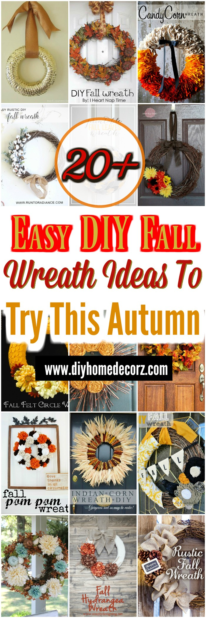 Easy DIY Fall Wreath Ideas To Try This Autumn