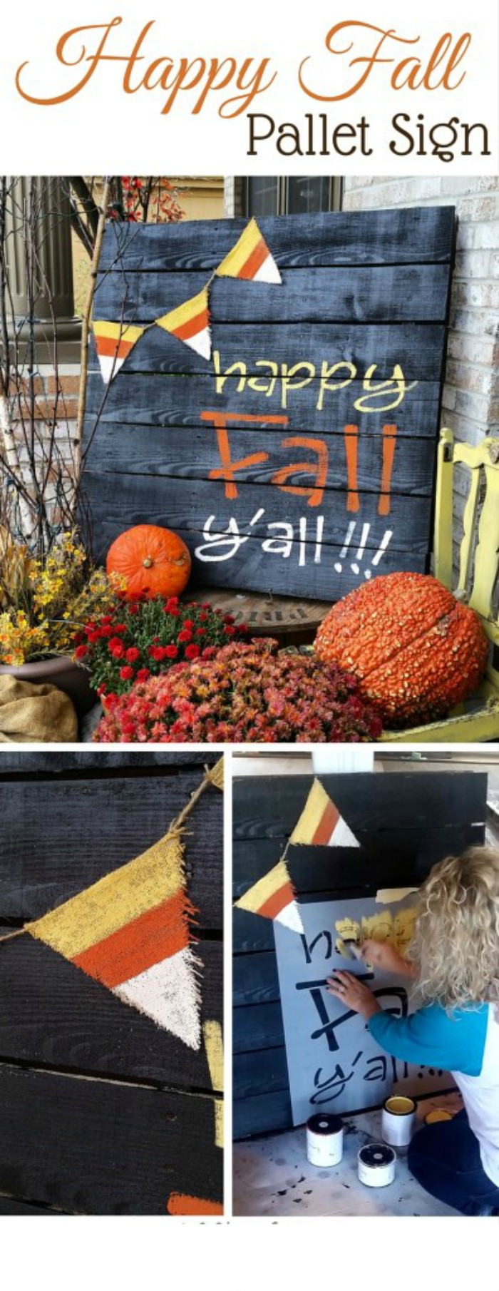DIY Happy Fall Pallet Sign Fall Decoration Ideas For Your Home