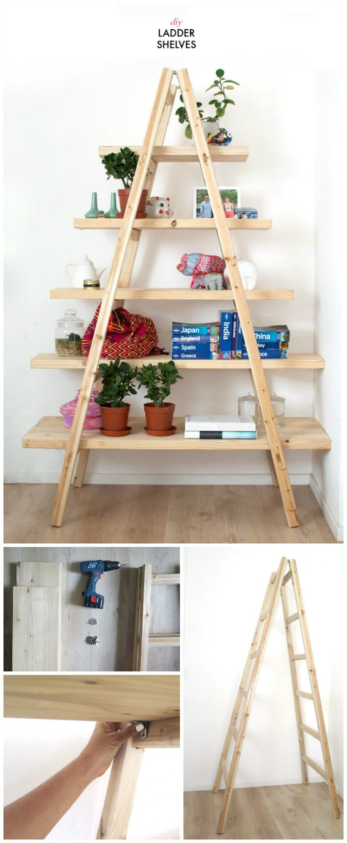 DIY Ladder Shelves DIY Home Decor Projects To Make Your Home Precious