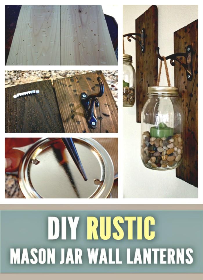 DIY Mason Jar Wall Lanterns DIY Home Decor Projects To Make Your Home Cute