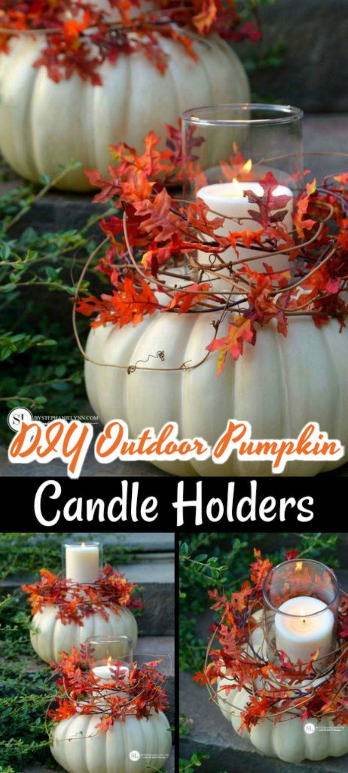 DIY Pumpkin Candle Holders Fall Decoration Ideas For Your Home