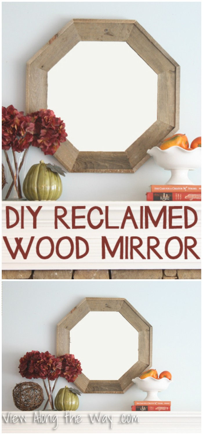 DIY Reclaimed Wood Octagon Mirror