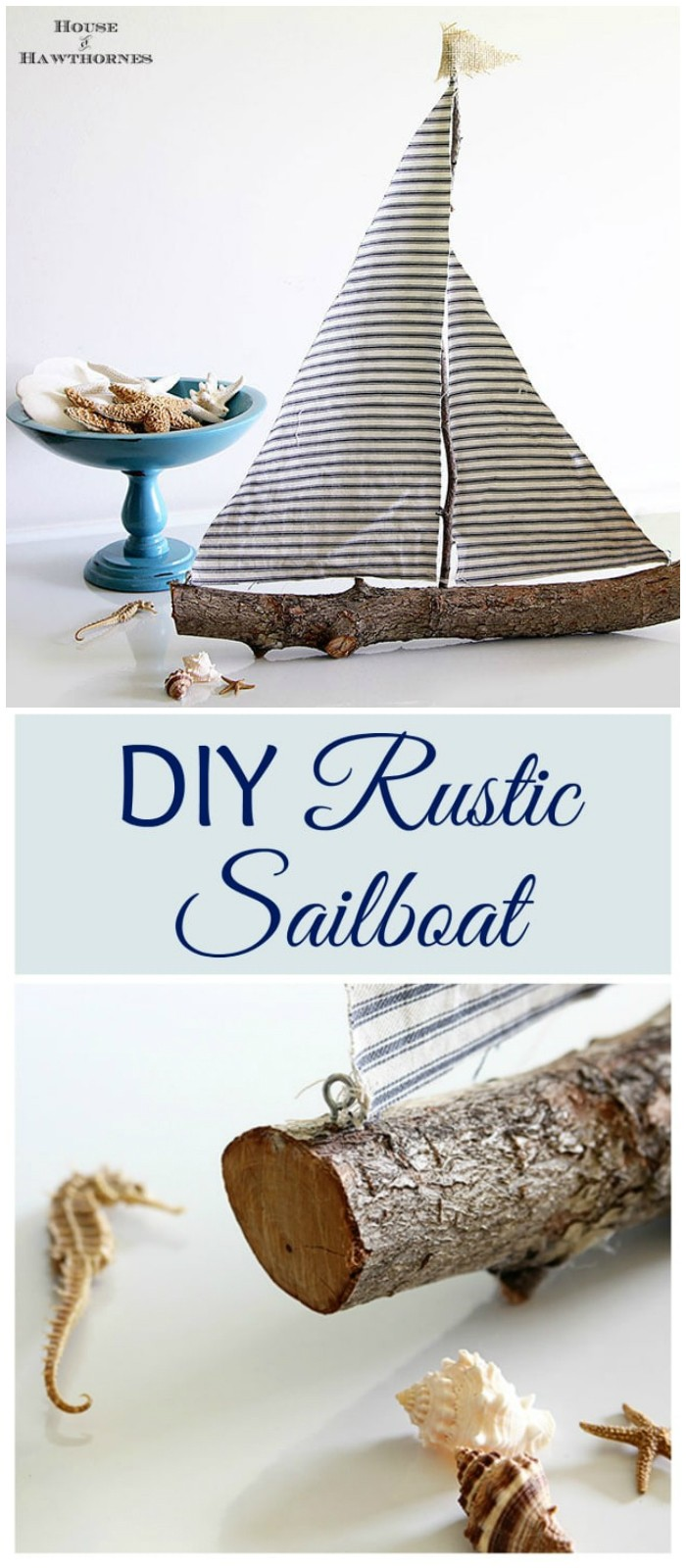 DIY Rustic Sailboat