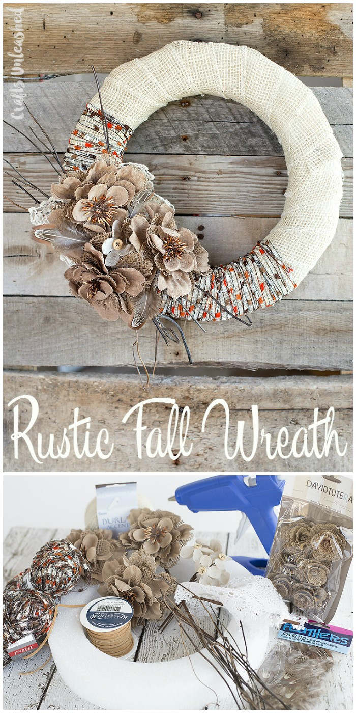 DIY Yarn Fall Wreath