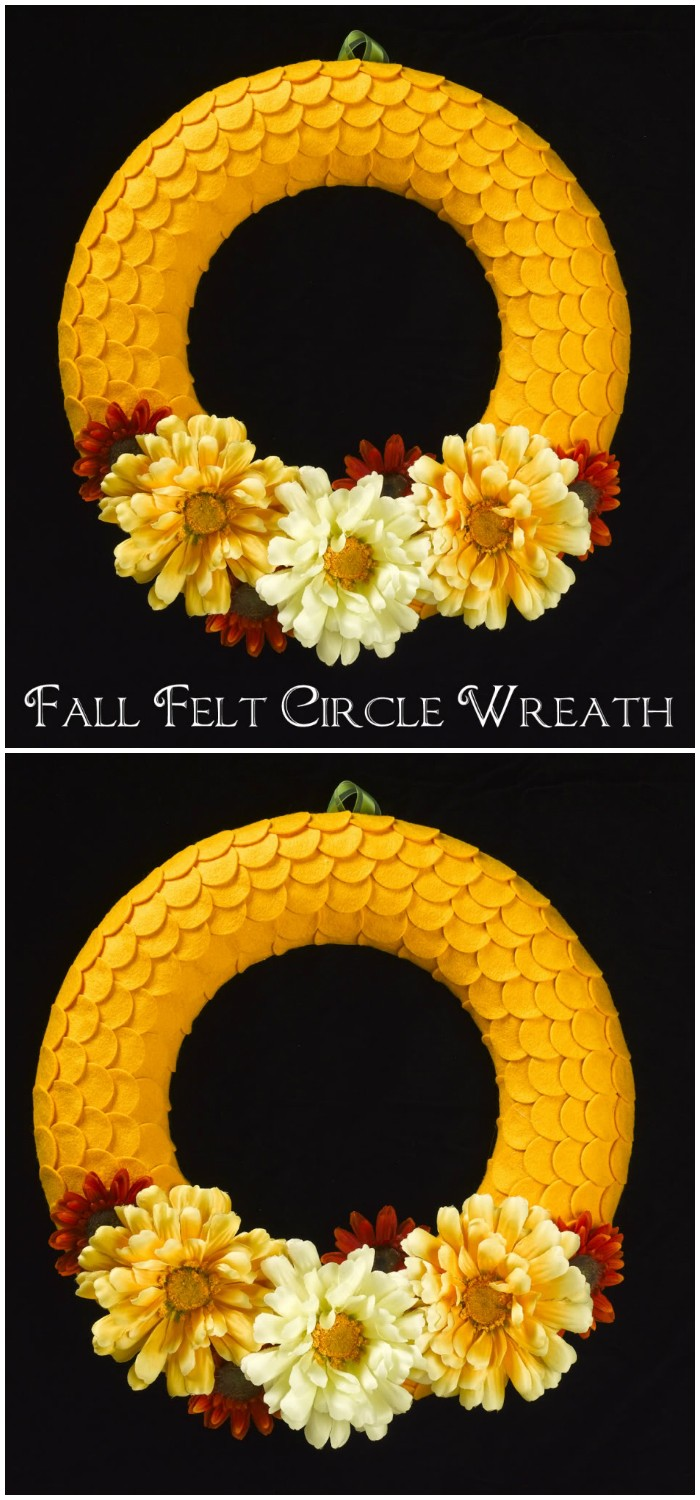 Fall Felt Circle Wreath