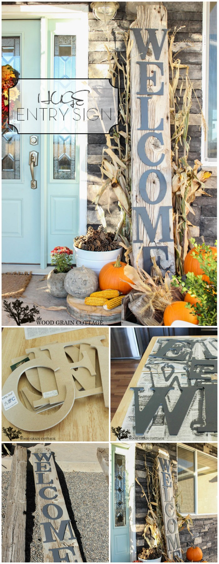 Huge Front Porch Welcome Sign 20 Amazing DIY Fall Porch Decor Ideas