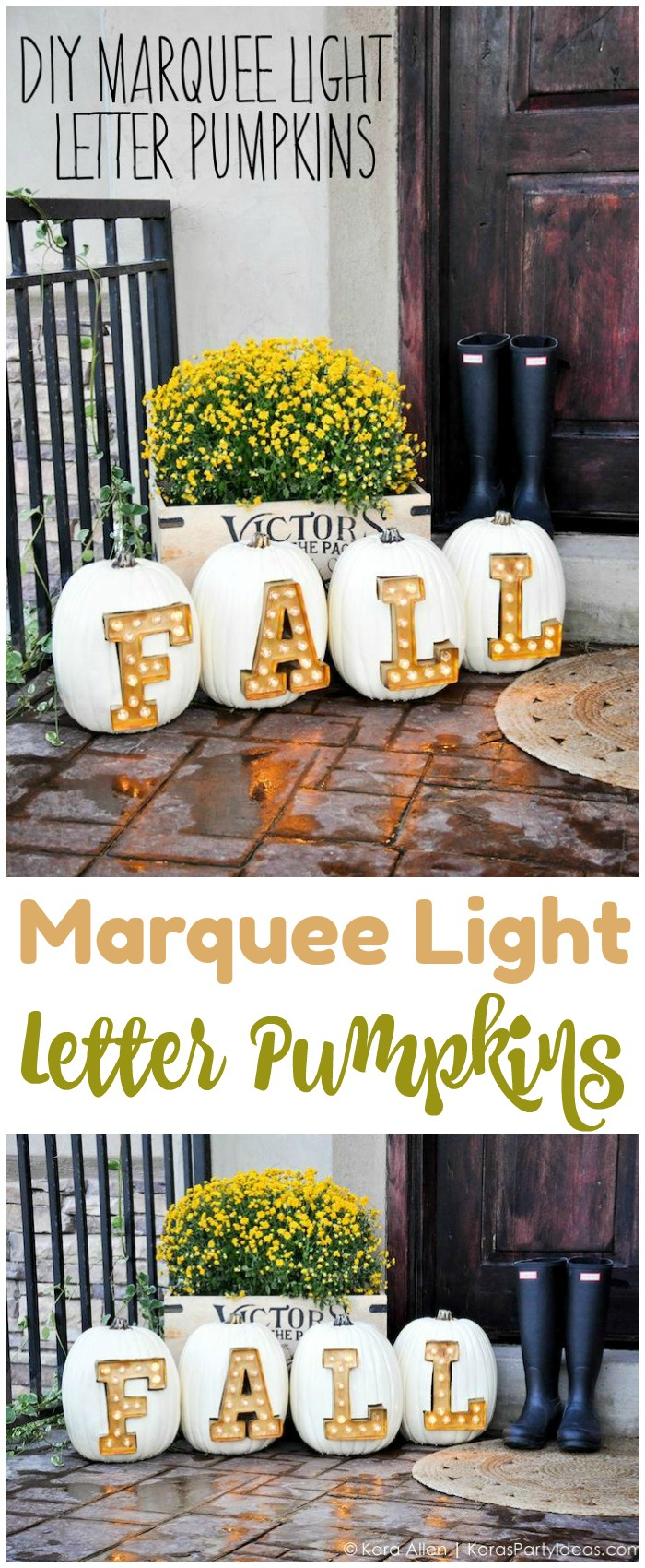 Marquee Light Letter Pumpkins Fall Decoration Ideas For Your Home