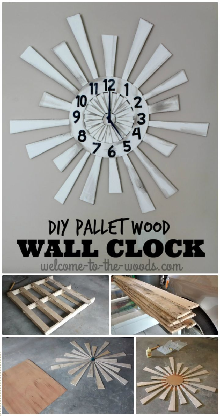 DIY Pallet Wood Wall Clock