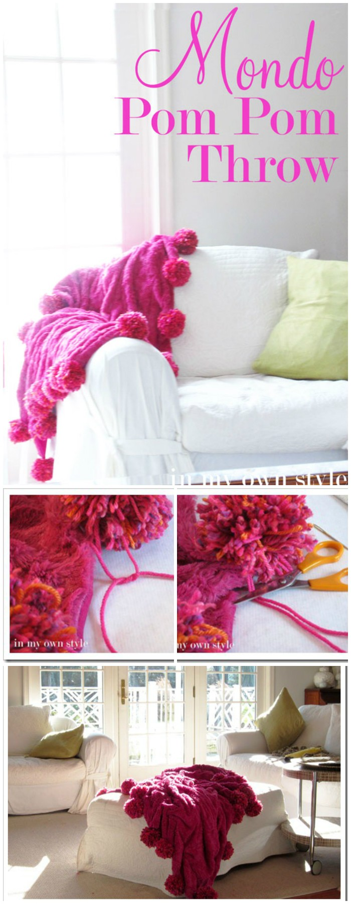 Pom Pom Throw DIY Home Decor Projects To Make Your Home Precious