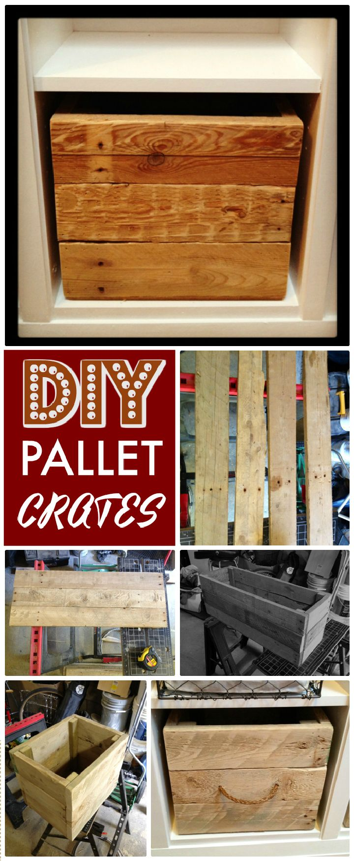 DIY Repurposed Pallet Storage Crates