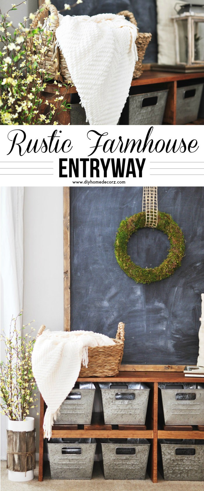 Rustic Farmhouse Entryway 2 DIY Home Decor Projects To Make Your Home Cute