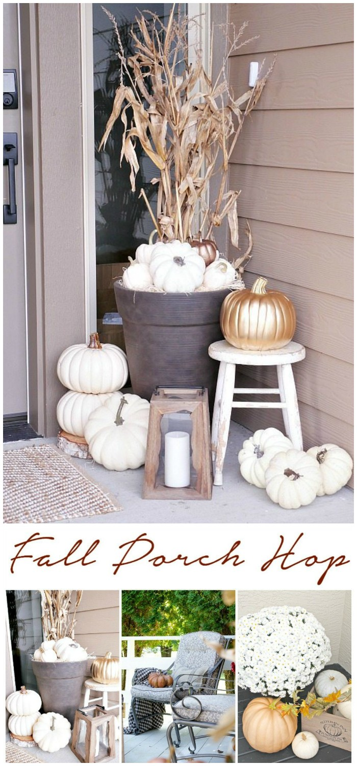 Rustic Metallic Fall Porch 20 Amazing DIY Fall Porch Decor Ideas