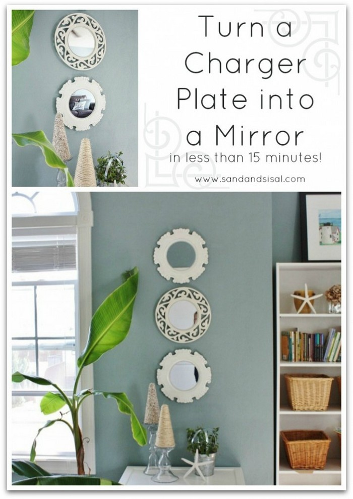 Turn a Charger into a Mirror DIY Home Decor Projects To Make Your Home Cute