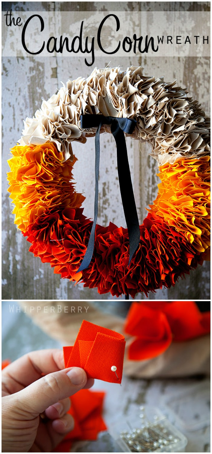 candy corn Fall wreath