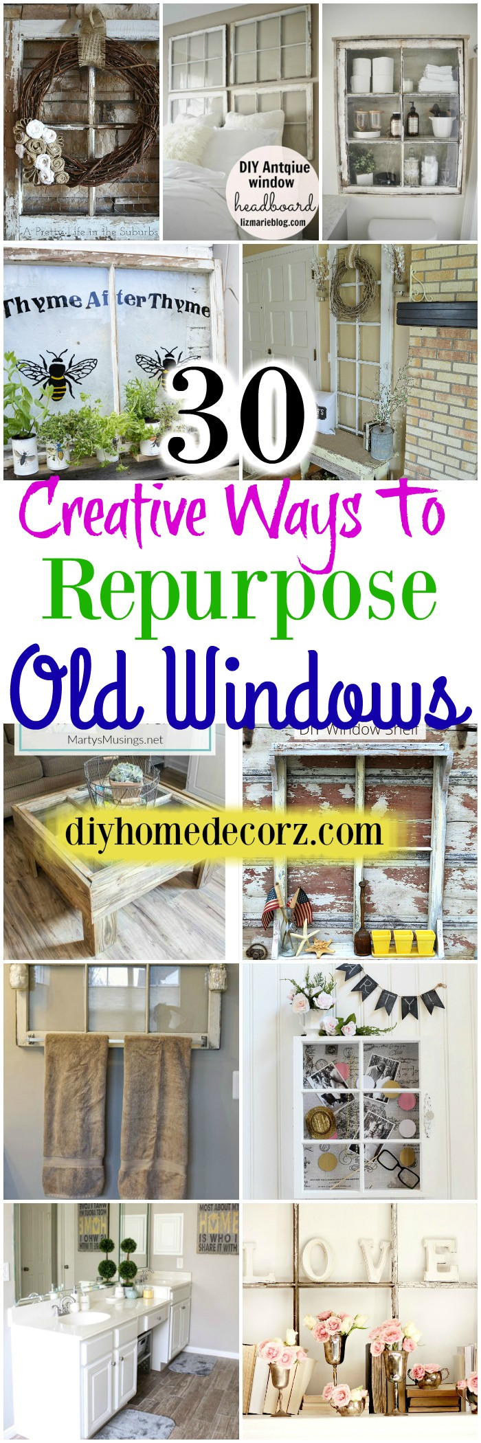 30 Creative Ways to Repurpose Old Windows
