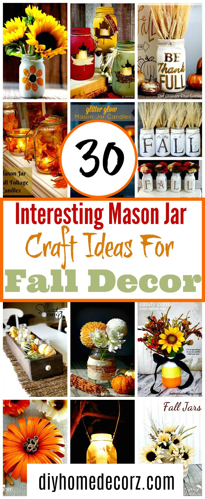 30 Interesting Mason Jar Craft Ideas For Fall Decor 30 Interesting Mason jar craft ideas for fall décor
