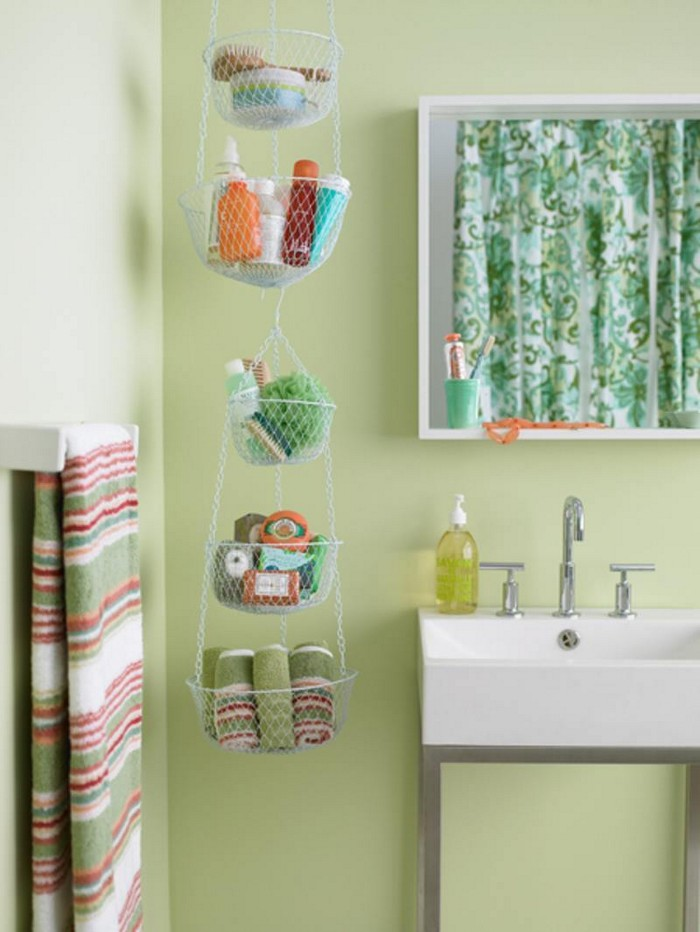 Basket Bathroom Storage - Bathroom Organization
