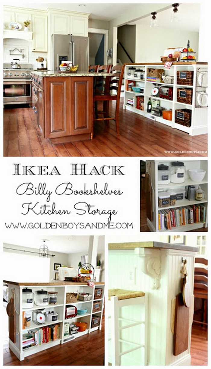 Bookshelves Turned Kitchen Island Easy Kitchen Island Projects For You To DIY
