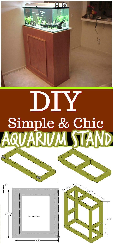 Chic Aquarium Stand