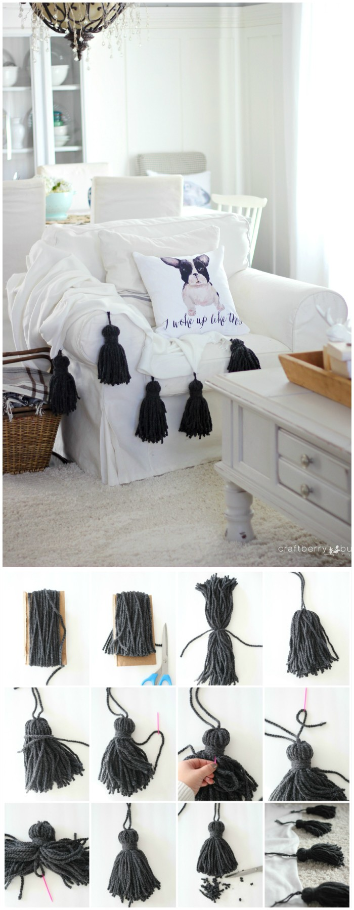 Chunky Tassel Throw 20 DIY Throw Blankets To Try This Winter
