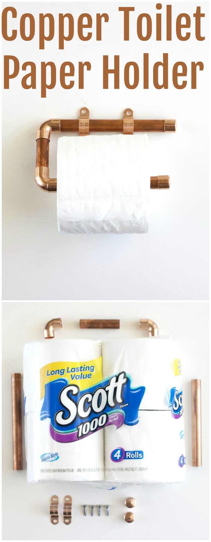 Copper Toilet Paper Holder DIY Toilet Paper Holder Ideas   Add Decor To Bathroom