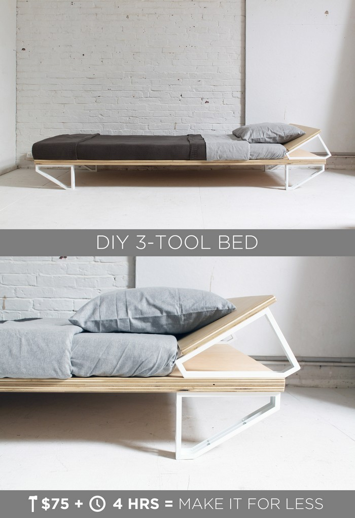 DIY 3-Tool Bed - diy bed frame - DIY Bed Plans -diy bed