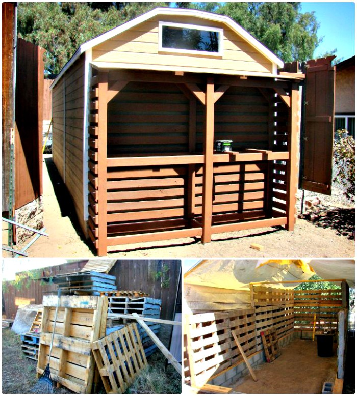 DIY Amazing Pallet Shed