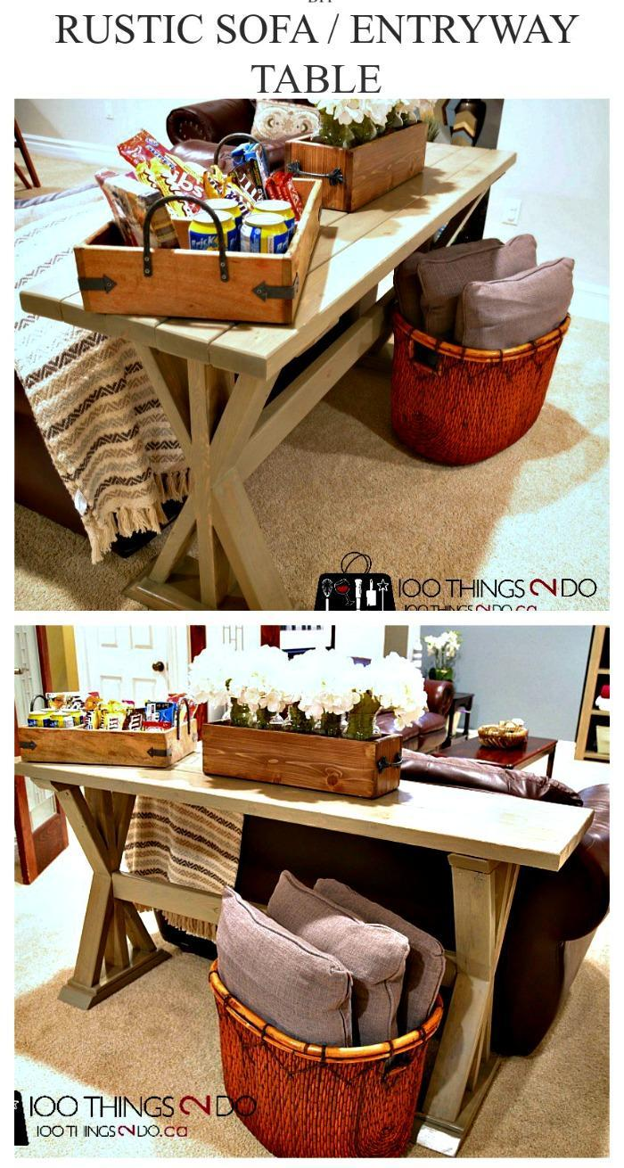 DIY Entryway Table or Sofa Table DIY Entry Table Ideas To Make Your Entryway Perfect