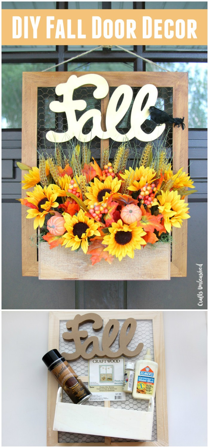DIY Fall Door Hanger decor fall craft ideas | fall craft ideas for kids | fall craft ideas for adults | fall craft ideas for the home