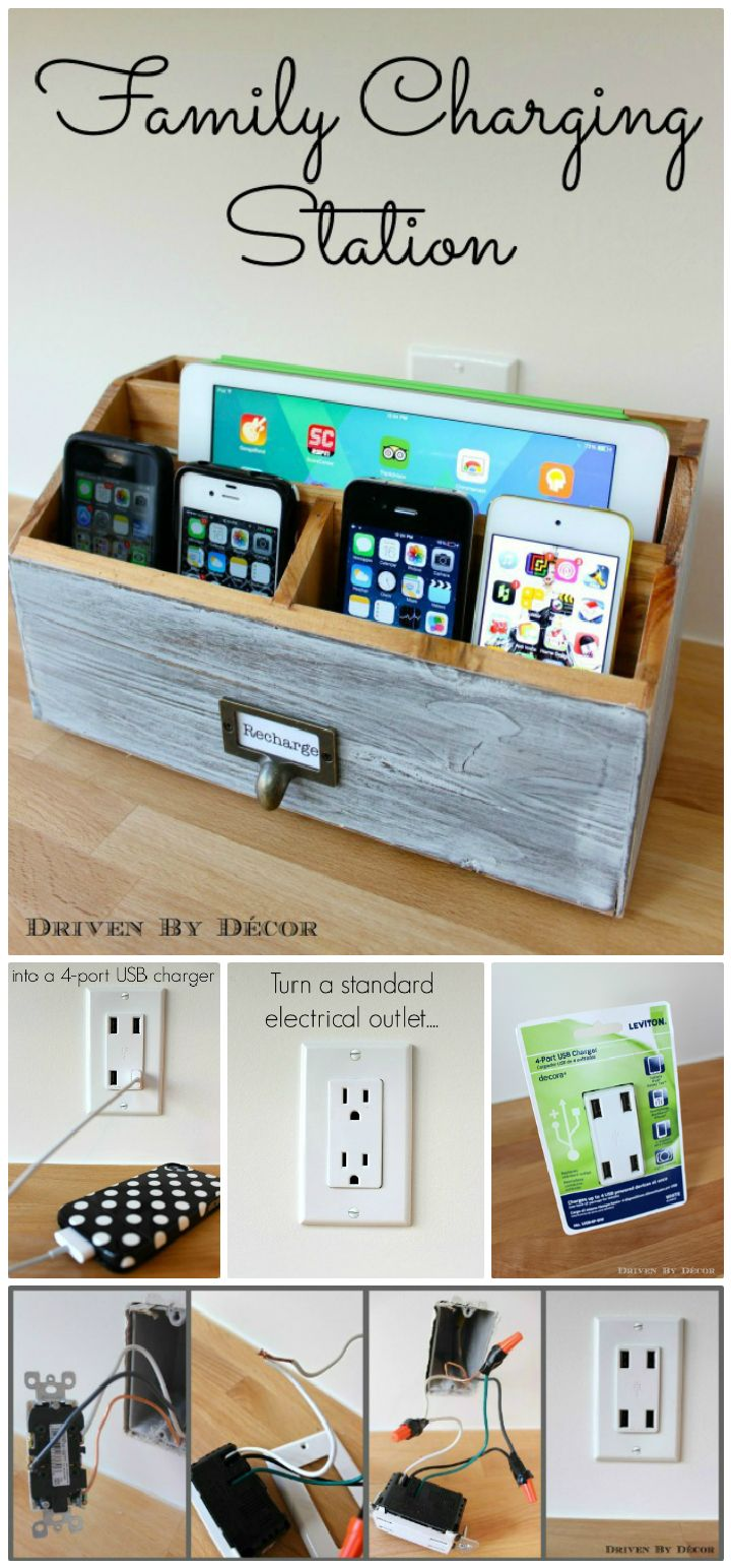 25 Cheap And Easy Diy Charging Station Ideas Diy Home Decor