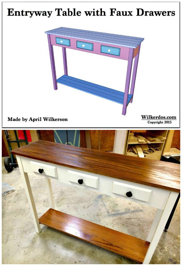 DIY Faux Drawer Entryway Table DIY Entry Table Ideas To Make Your Entryway Perfect
