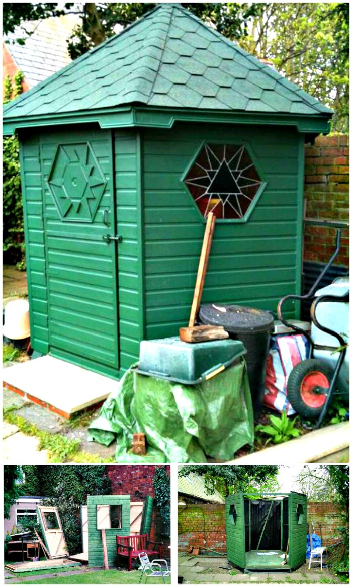 DIY Hexagonal Garden Shed