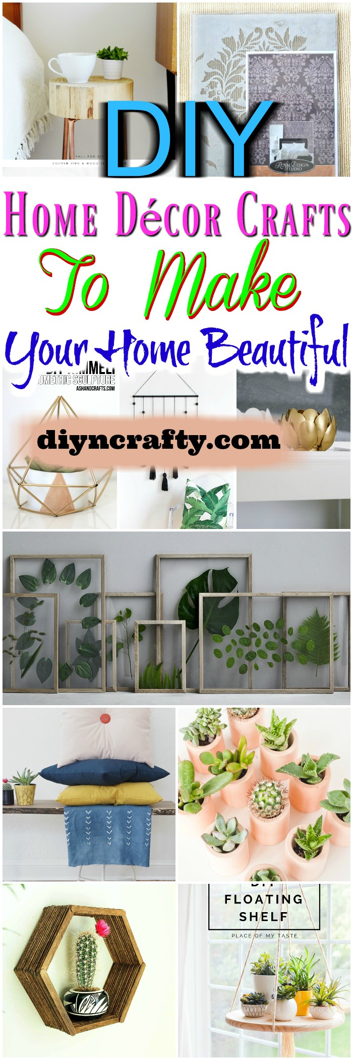 Diy home d cor crafts to make your home beautiful diy for Home crafts to make