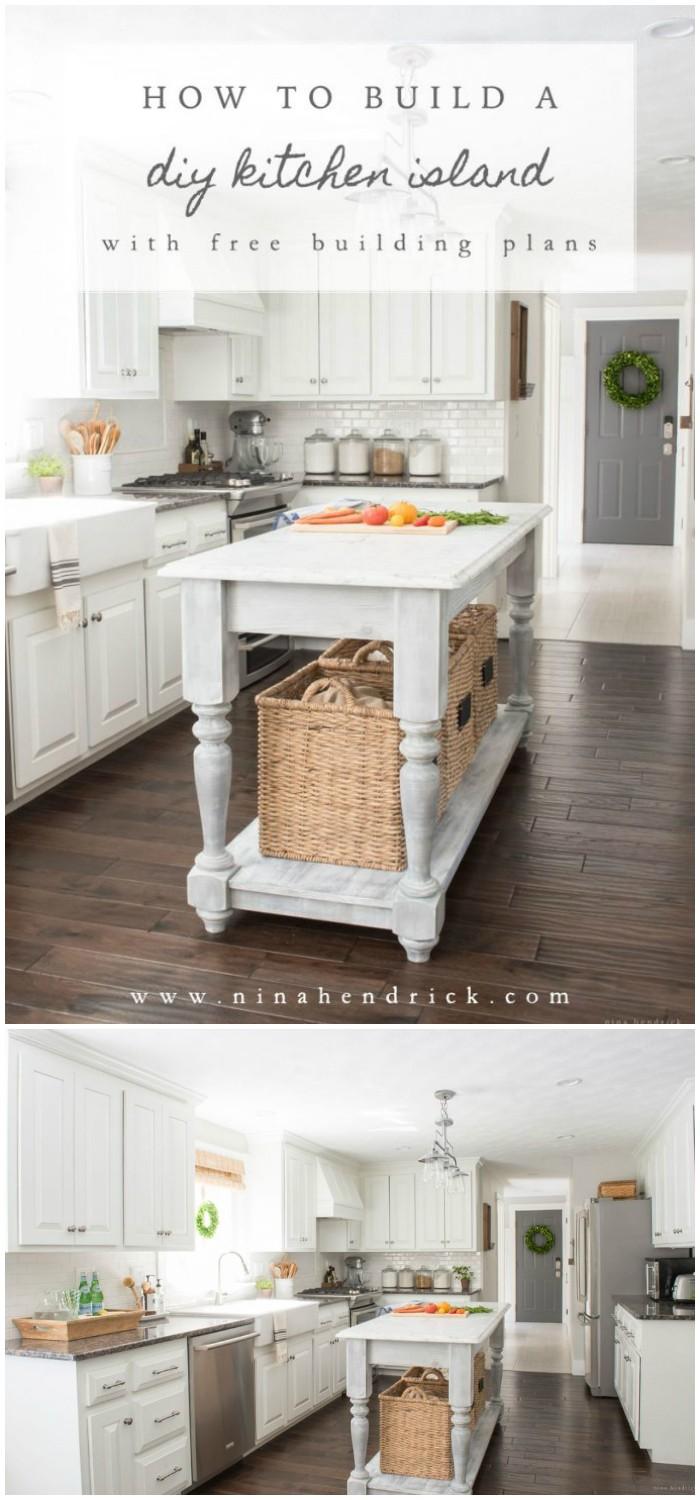 Easy Kitchen Island Projects For You To Diy Diy Home Decor