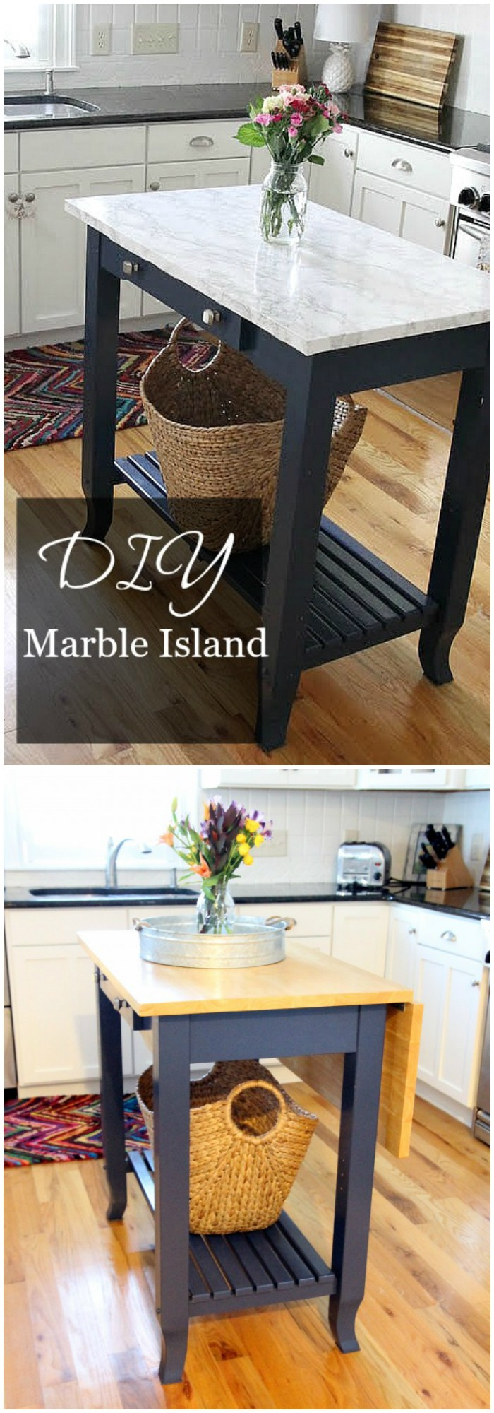 DIY Marble Top Kitchen Island Easy Kitchen Island Projects For You To DIY