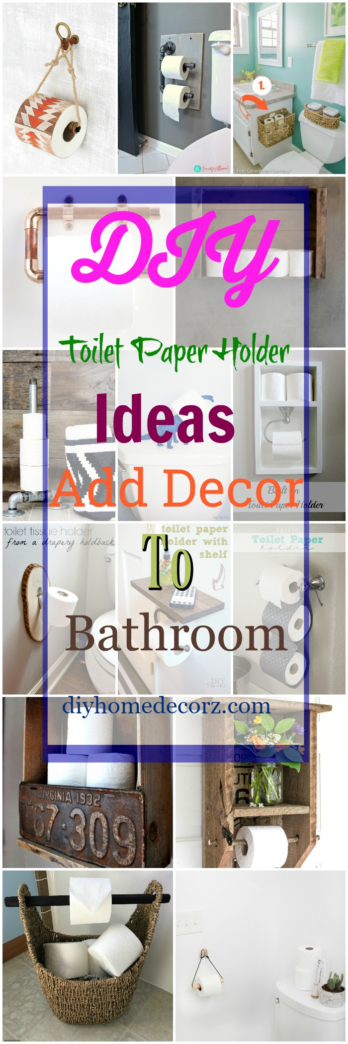 DIY Toilet Paper Holder Ideas Add Decor To Bathroom DIY Toilet Paper Holder Ideas   Add Decor To Bathroom