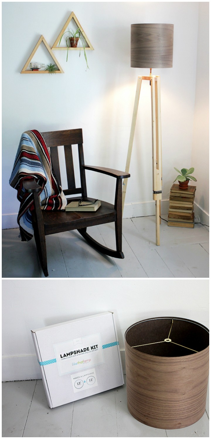 DIY Tripod Floor Lamp DIY Furniture Projects To Beautify Your Home