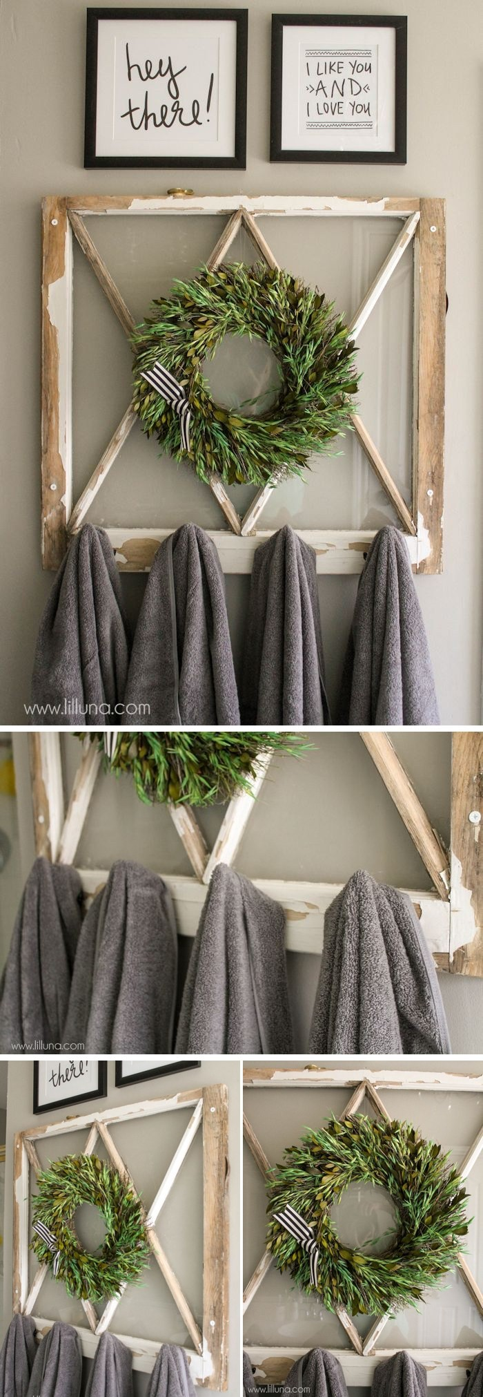DIY Vintage Window Towel Holder 30 Creative Ways to Repurpose Old Windows