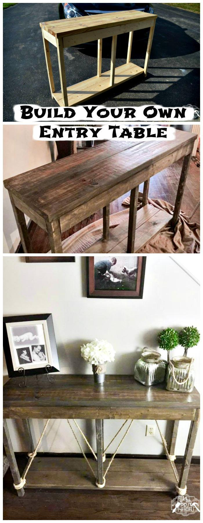 DIY Wooden Entryway Table DIY Entry Table Ideas To Make Your Entryway Perfect