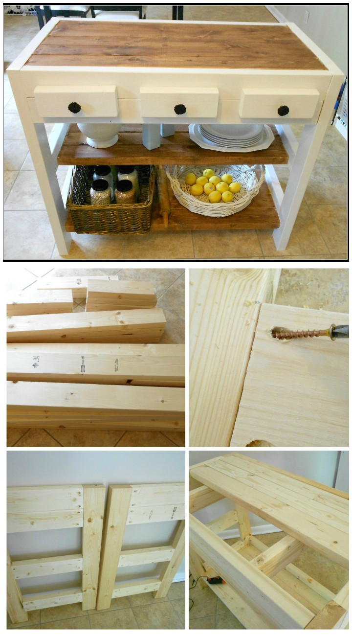 DIY Wooden Kitchen Island DIY Furniture Projects To Beautify Your Home