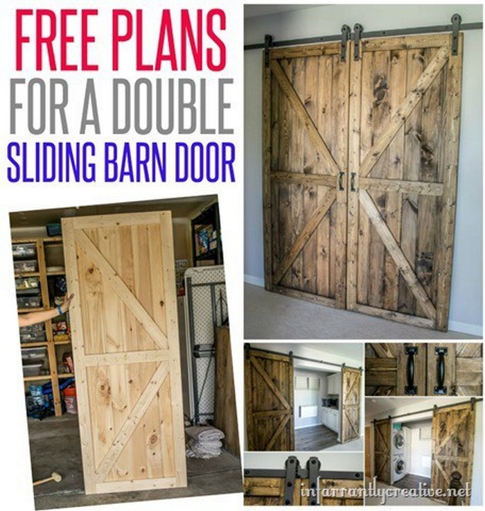 Double Barn Door Plans DIY Barn Door Ideas To Make Your Home Gorgeous