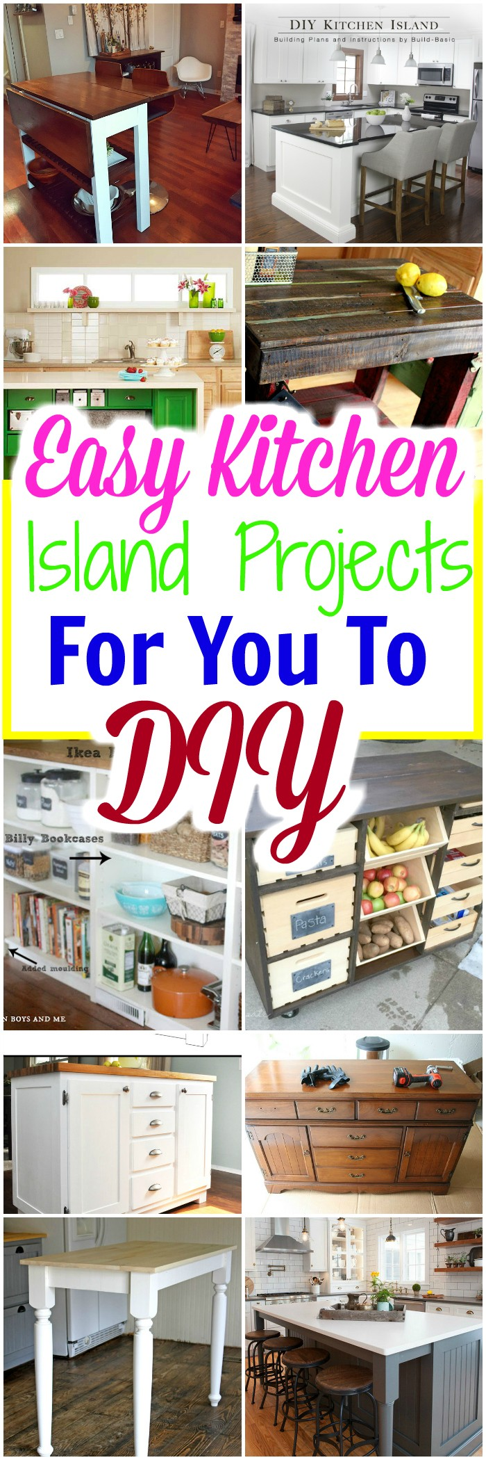easy kitchen island easy kitchen island projects for you to diy diy home decor 11532