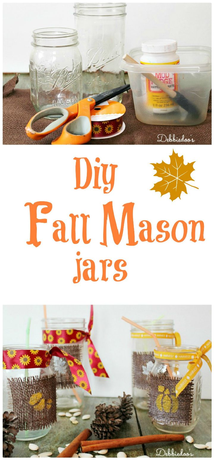 Fall Mason Jars - mason jar craft ideas | mason jar craft ideas diy | mason jar craft ideas christmas | mason jar craft ideas decor | mason jar craft ideas for kids