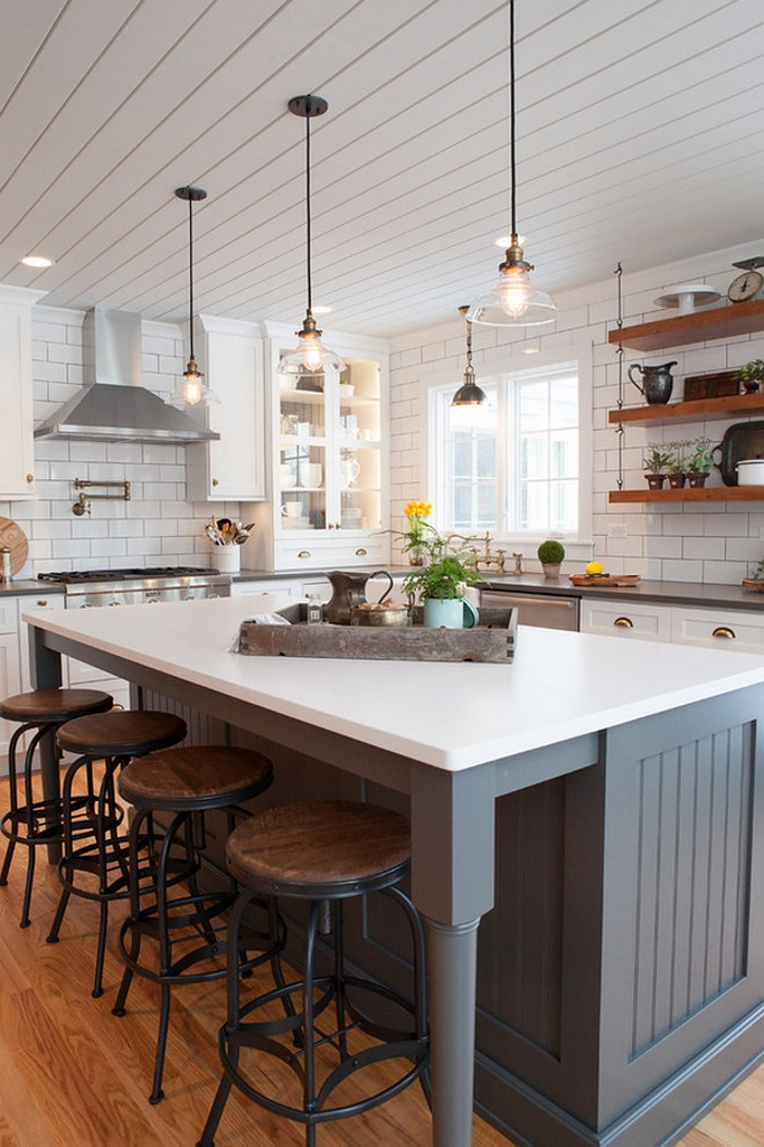Farmhouse Kitchen Island Easy Kitchen Island Projects For You To DIY