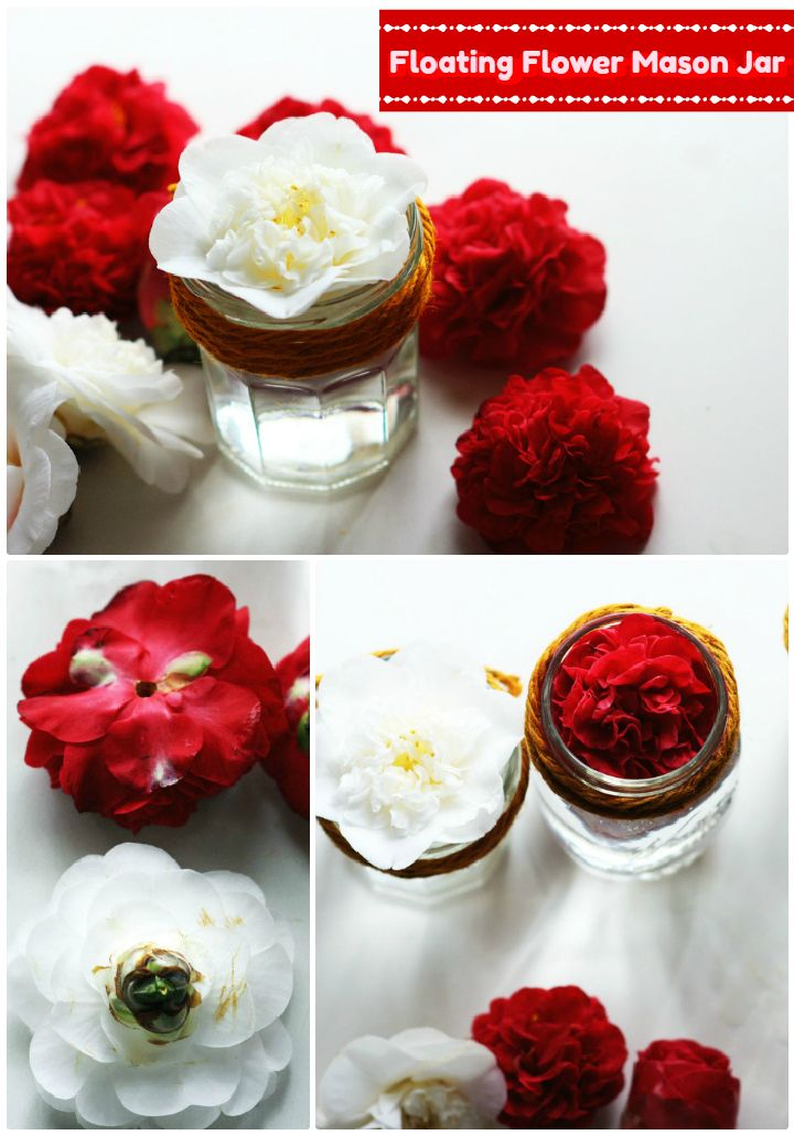 Floating Flower Mason Jar 30 Interesting Mason jar craft ideas for fall décor
