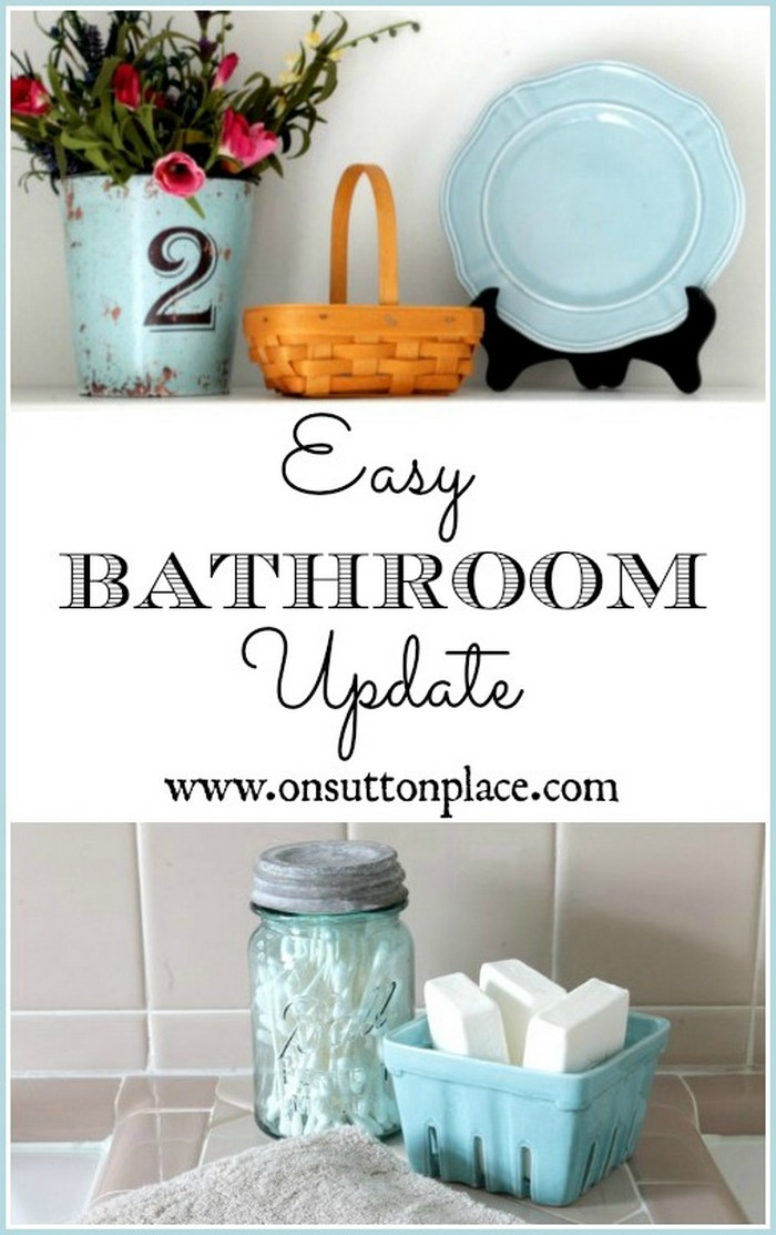 How To Update A Bathroom DIY Bathroom Organization And Storage Ideas