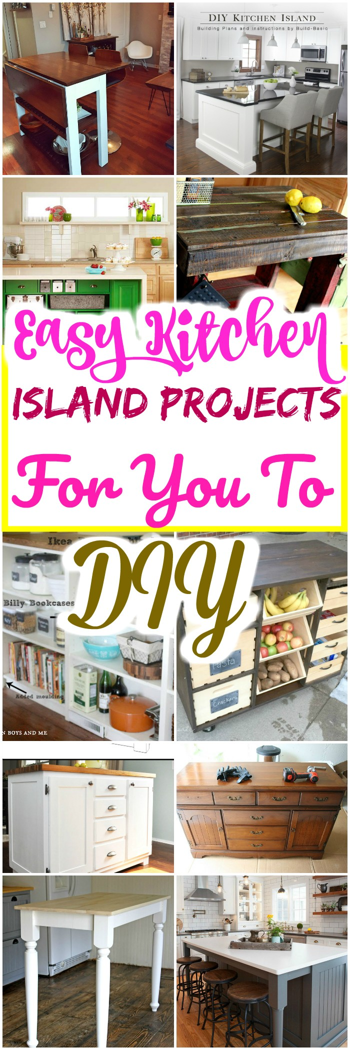 Kitchen Island Projects For You To DIY Easy Kitchen Island Projects For You To DIY